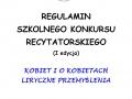 Regulamin konkursu recytatorskiego - strona 1