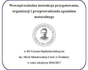 Instrukcja maturalna – 2016-2017