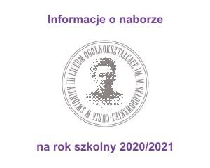 Informacja o naborze 2020/2021